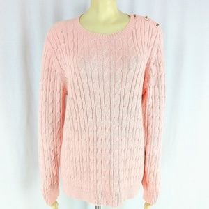 🌸SALE🌸 Charter Club Sweater Cableknit Peach pink